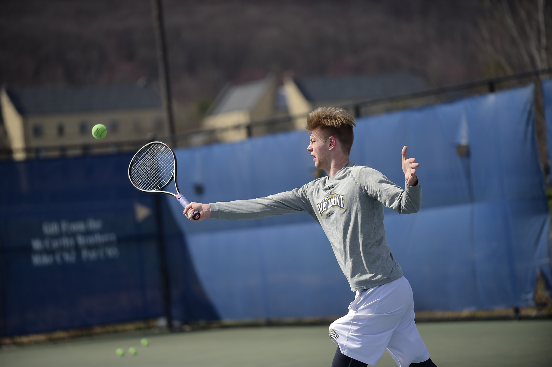 Mount Men's Tennis Heads To Annapolis For A Match Against Bryant On Friday