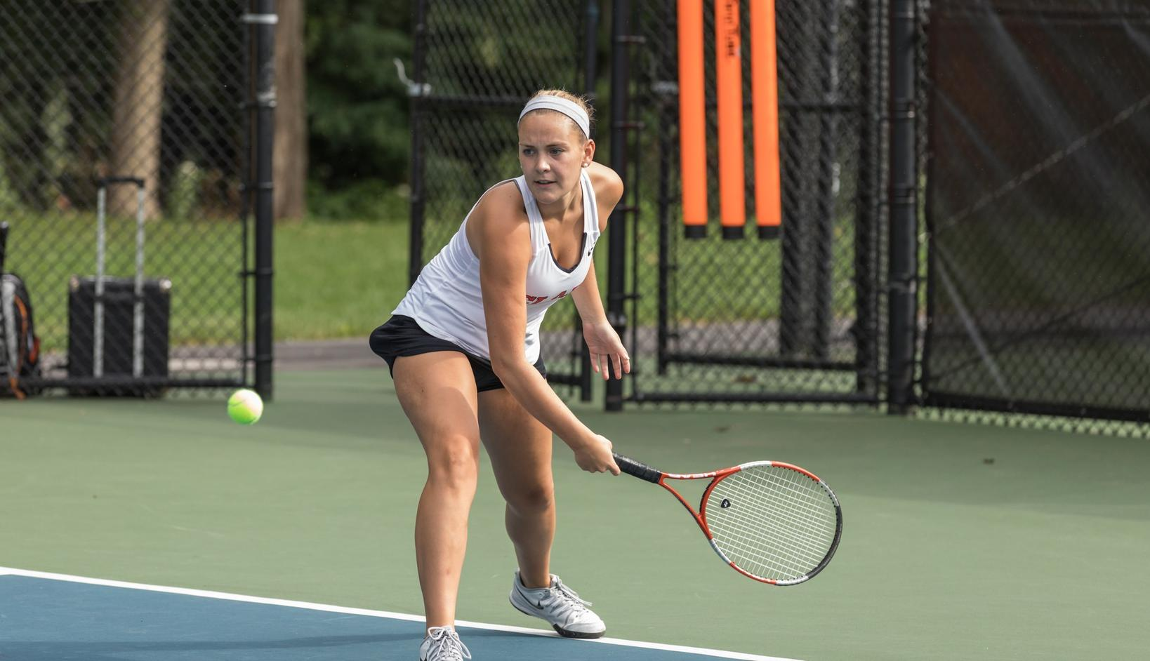 Women's Tennis Drops to Wellesley in NEWMAC Opener