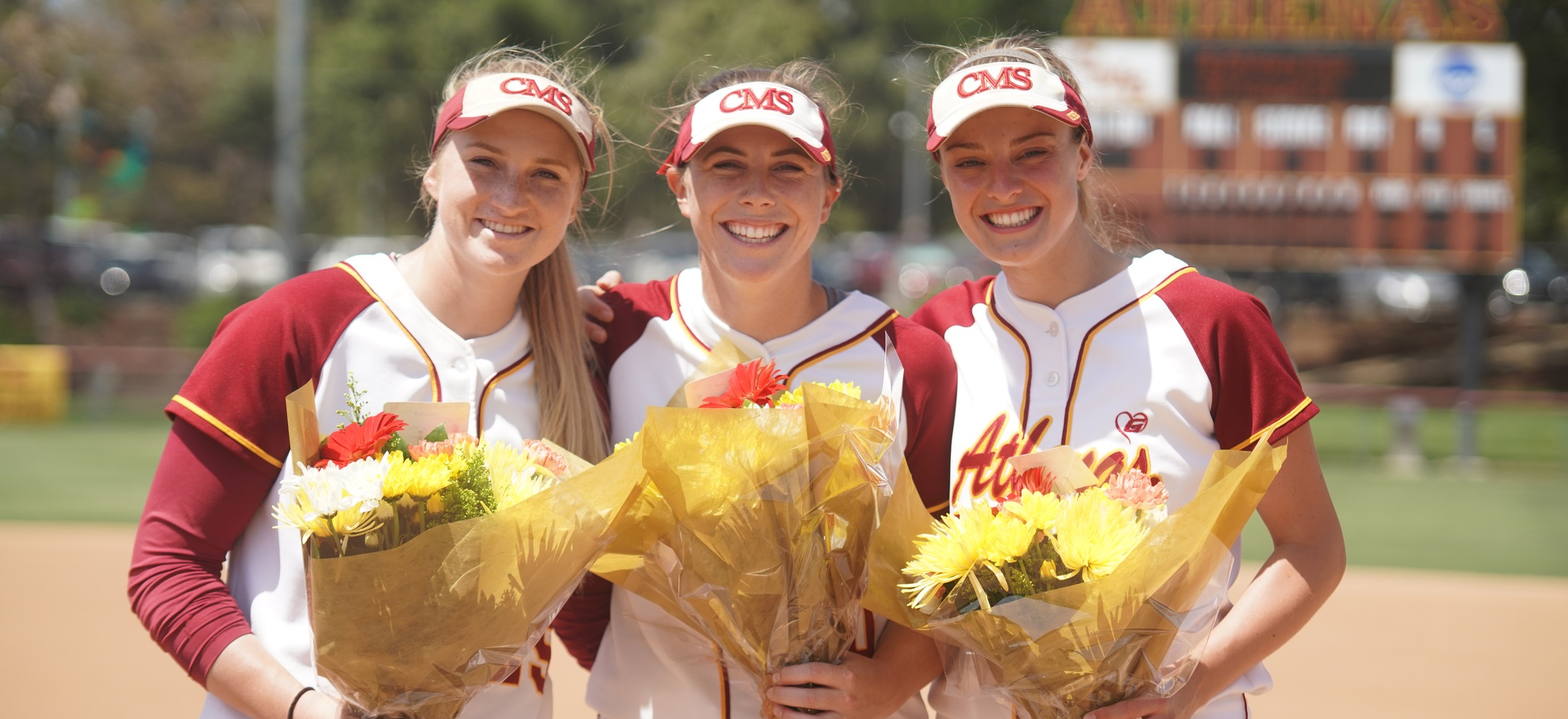 CMS seniors: Carly Roleder (CMC), Anna Gurr (CMC), and Briana Halle (CMC) (photo credit: Alicia Tsai)