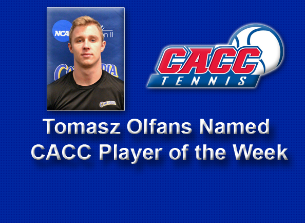 Concordia's Tomasz Olfans Named CACC Player of the Week in Men's Tennis