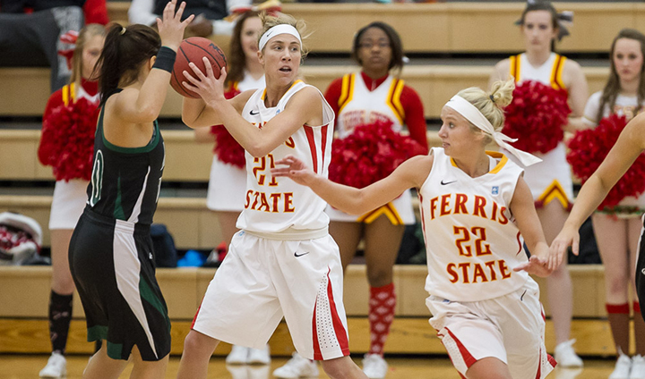 Ferris State Women Storm Past Lake Erie For Victory In League & Home Debut