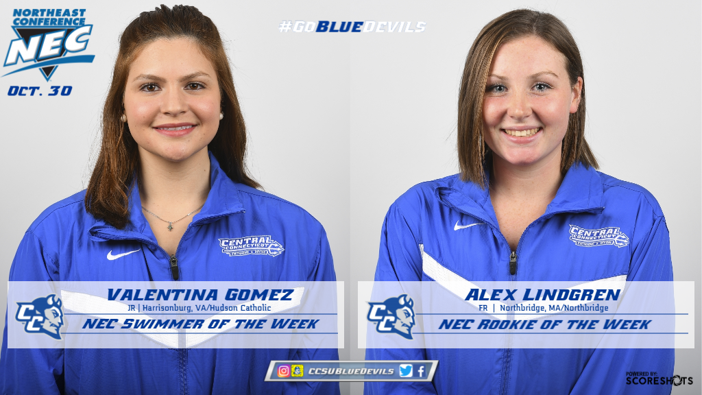Gomez, Lindgren Earn NEC Swimming Weekly Awards