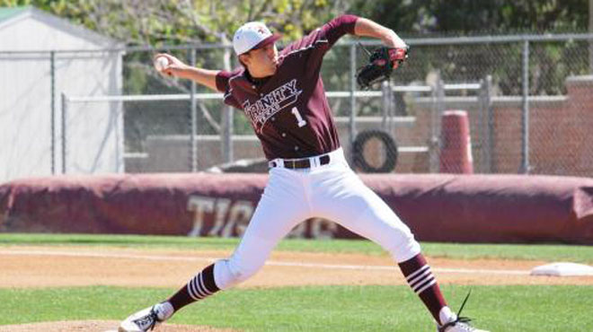 Klimesh pitches No. 15 Trinity to shutout win in NCAA playoff opener