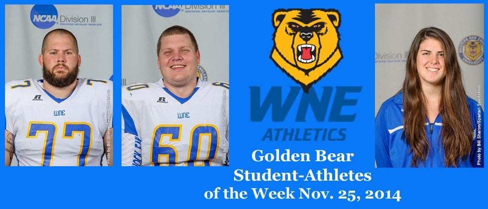 Football Duo and Women's Swimmer are the Latest WNE Student-Athletes of the Week