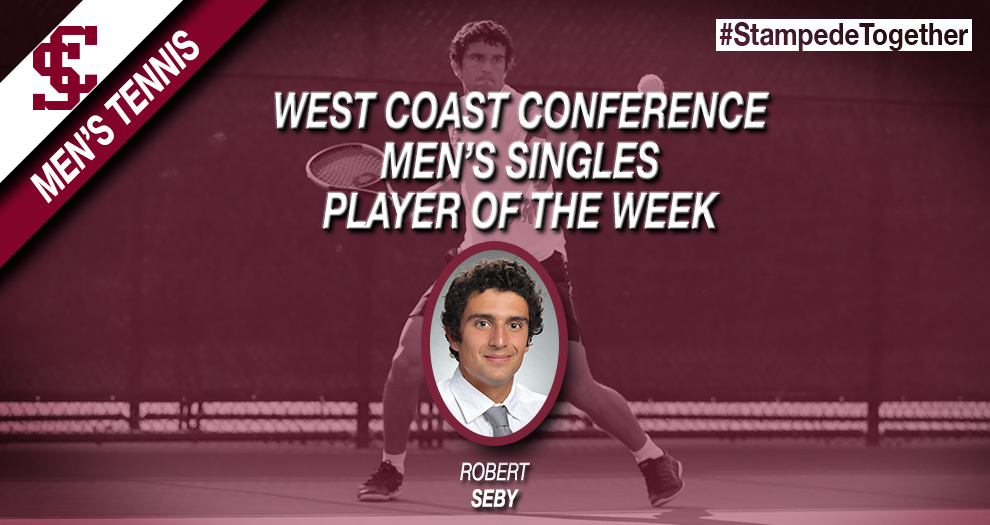 Seby Named WCC Men's Singles Player of the Week