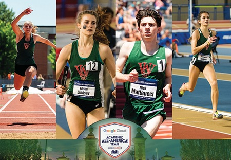 Four Washington University Cross Country/Track & Field Student-Athletes Earned Google Cloud Academic All-America Honors