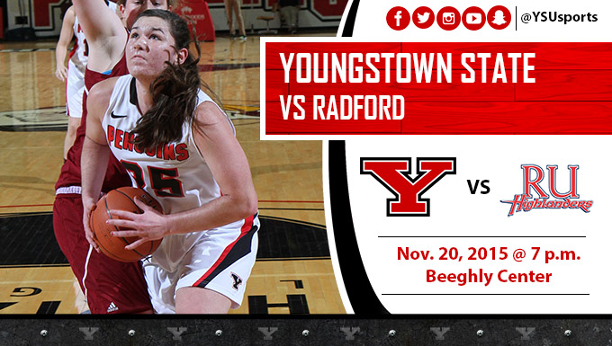 Morgan Olson and the Penguins host Radford on Friday night at Beeghly Center