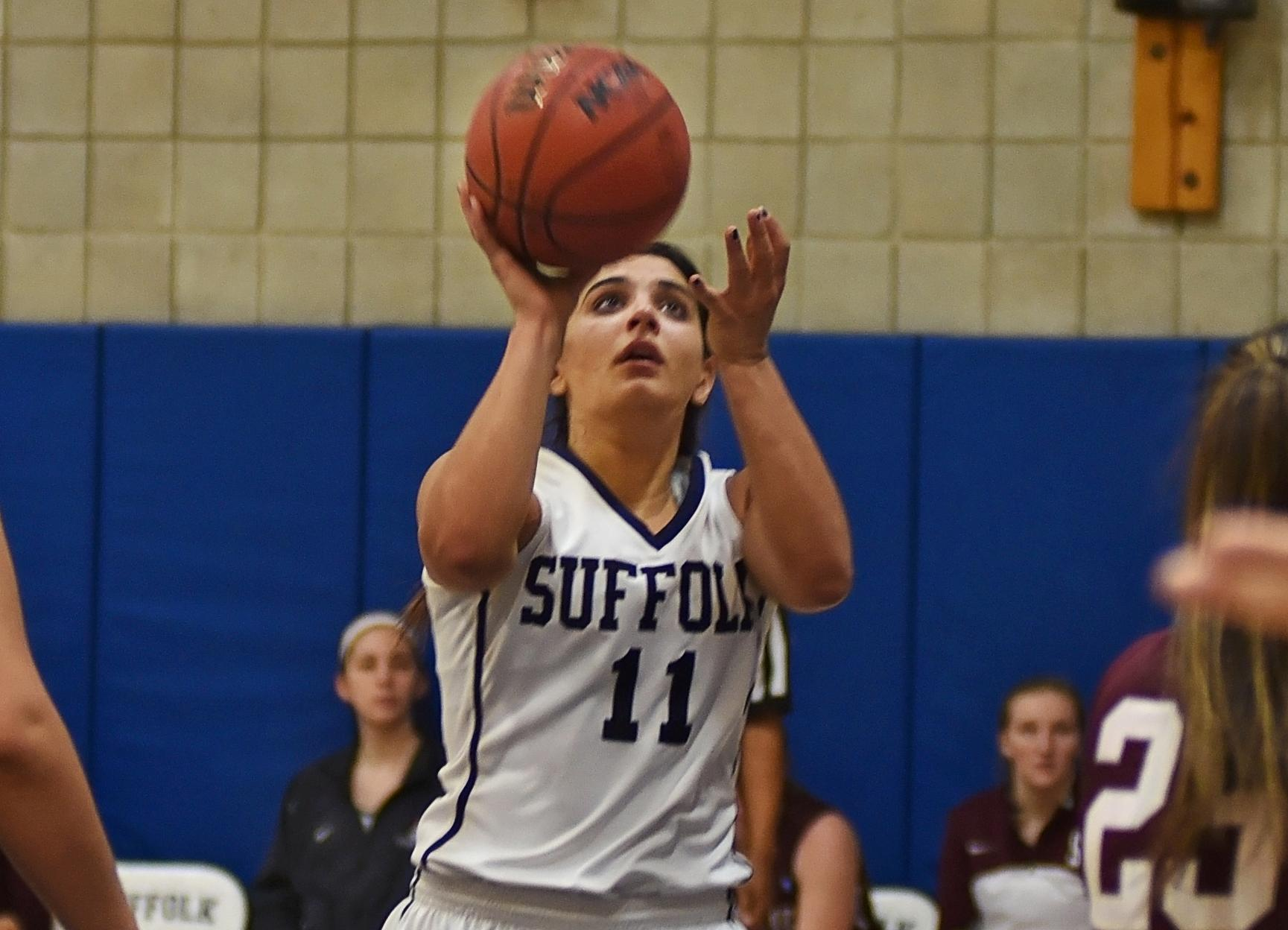 Campellone's Double-Double Leads Women's Basketball to 3rd Straight Win in GNAC Opener