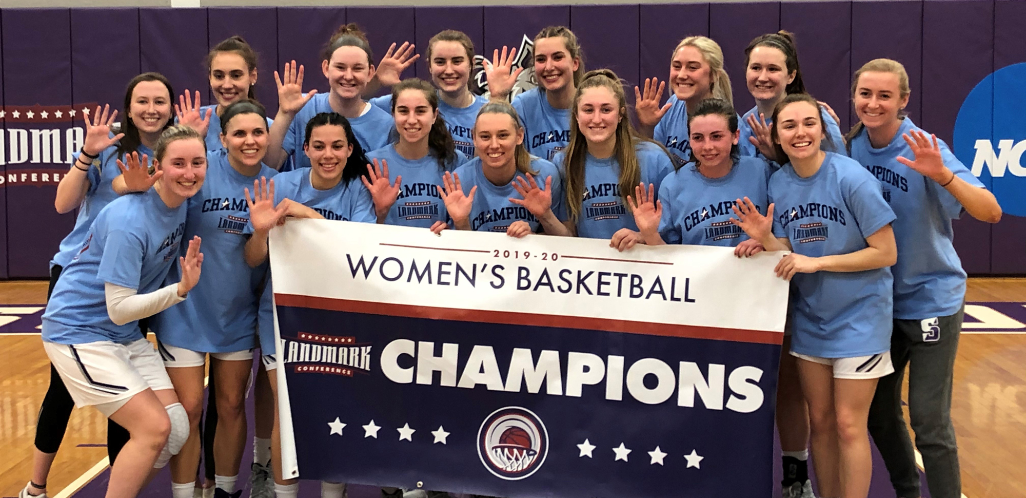 The Lady Royals captured the program's fifth straight Landmark Conference Championship with a 63-42 victory over Catholic on Saturday afternoon.