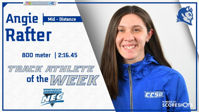 Rafter Named NEC Women's Track Athlete of the Week