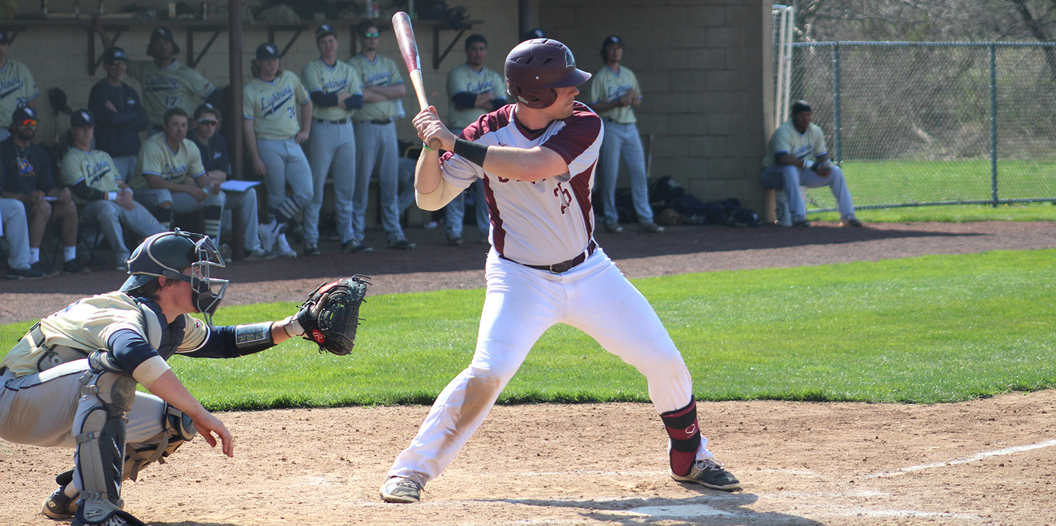 Scholey's Eighth-Inning Single Caps Game One Comeback; Baseball Splits with Goldey-Beacom