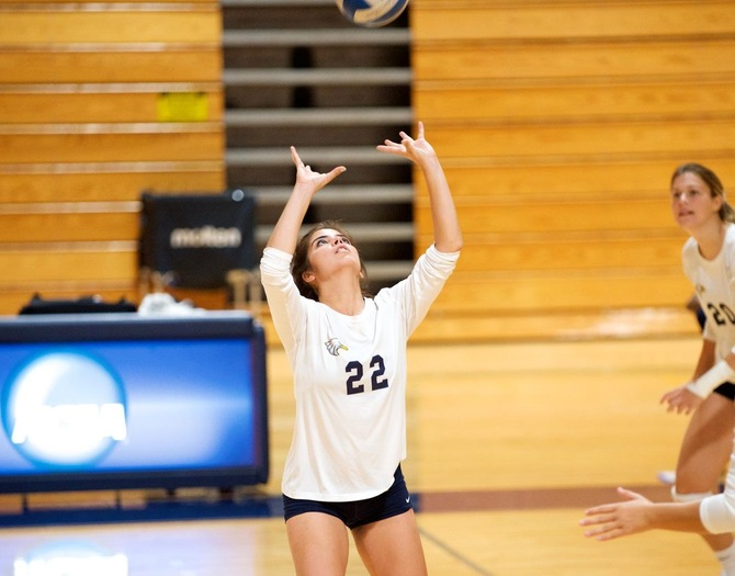 #3 Women's Volleyball Tops #6 Maritime in Skyline First Round