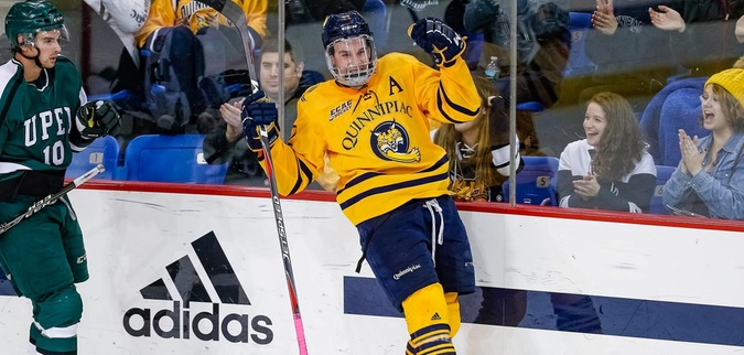 Davidson's three points helps lift Quinnipiac over UPEI, 5-2