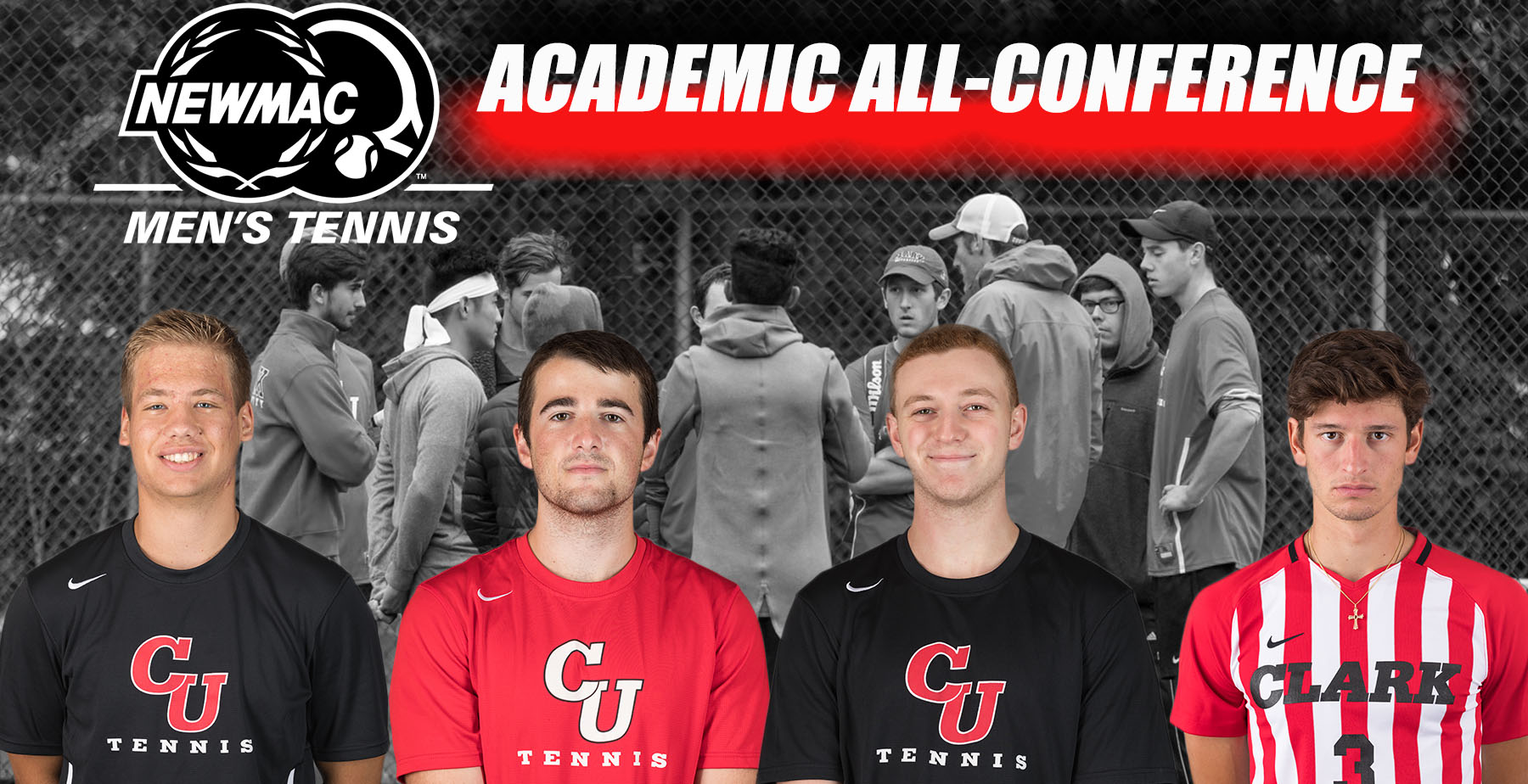 Men's Tennis Places Four on NEWMAC Academic All-Conference Team
