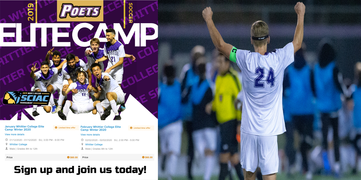 Men's Soccer set to host two Elite Camps in 2020