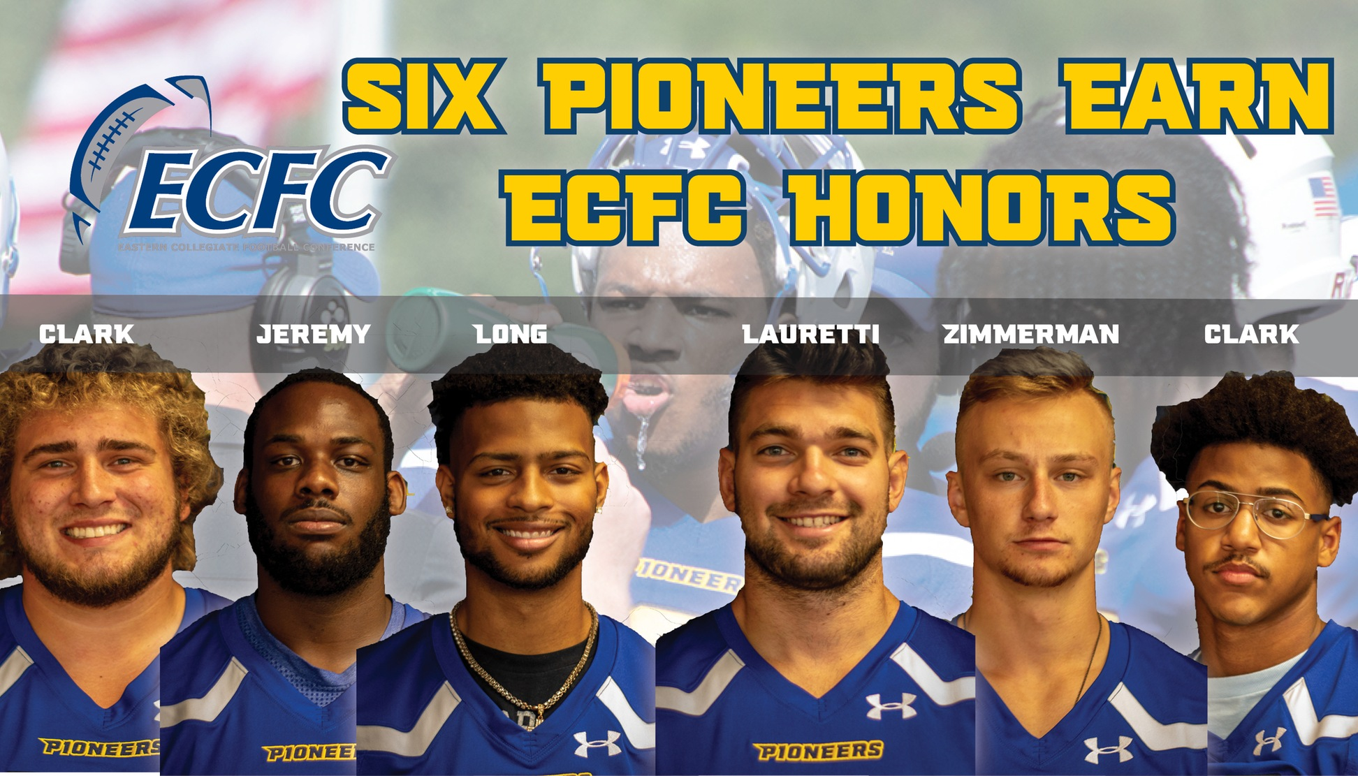 Six Pioneers Named All-ECFC
