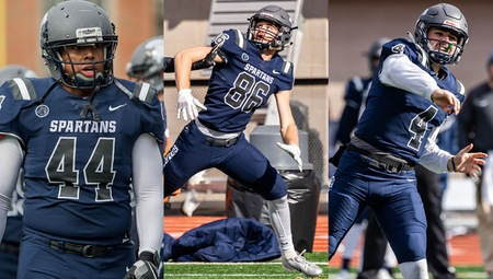 Three Spartans Named to D3football.com All-Region Teams