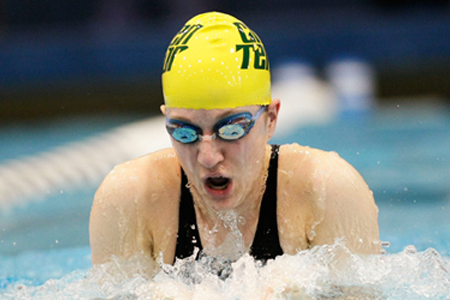 Walega wins breaststroke to pace McDaniel at CCs