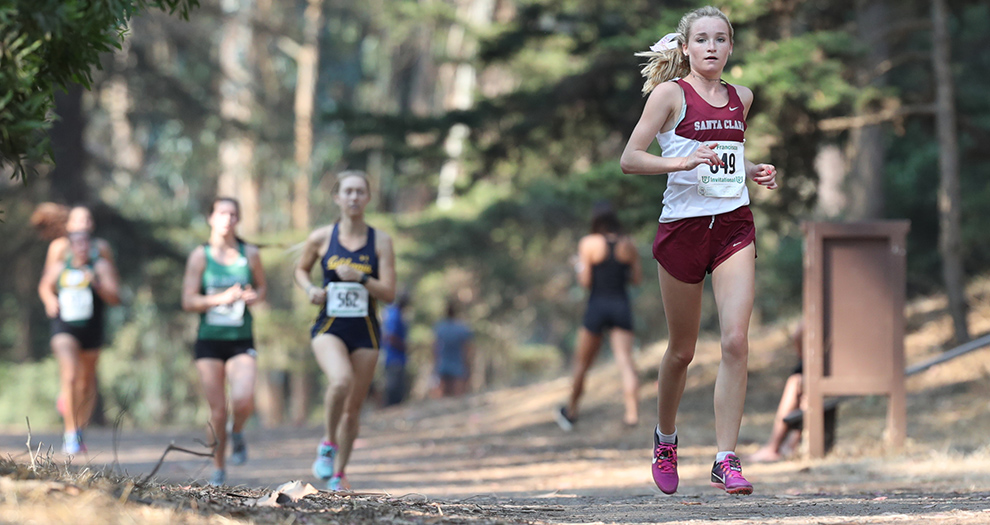 Freshman Janie Nabholz led all Bronco runners in her second race with the team on Saturday morning.