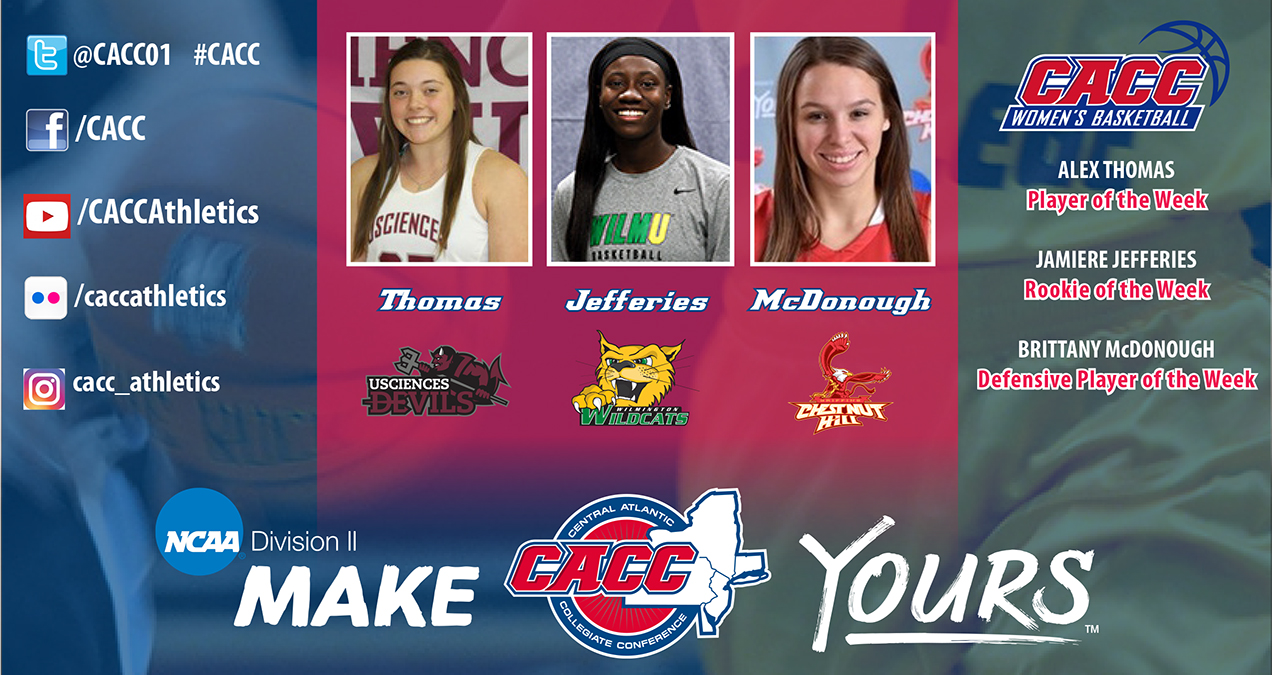 CACC Women's Basketball Weekly Report #8 (Jan. 9, 2017)