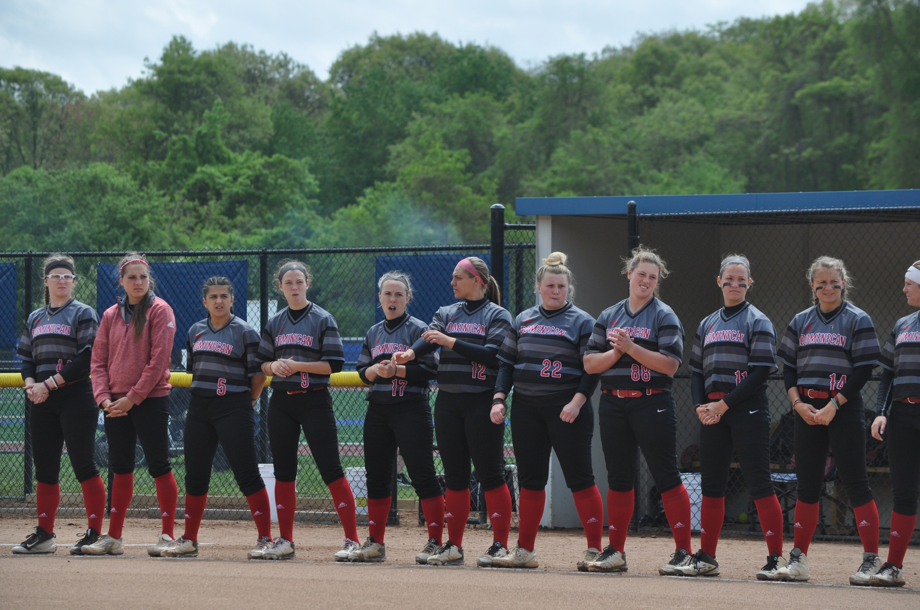 Softball splits CACC double-header with Bloomfield College this afternoon in games on the DC Softball Field.