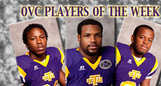 Barnes, Crawford and Tooley honored with weekly OVC awards