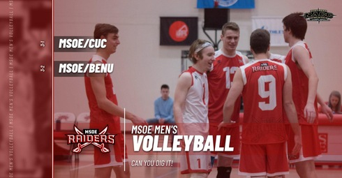 Can You Dig It?  MSOE Men's Volleyball did this Weekend!