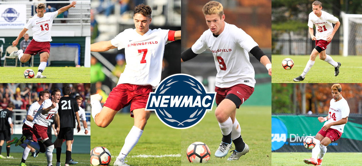 Alvaro and Powell Headline Program-Record NEWMAC All-Conference Honors for Men's Soccer