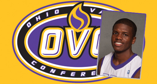 Johnson honored as adidas® OVC Freshman of the Week for third time