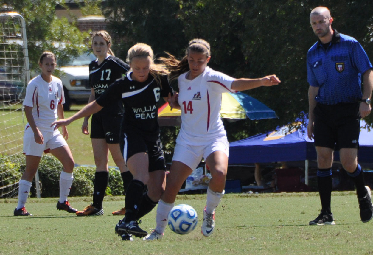 Women's Soccer: Panthers' second half goals top William Peace
