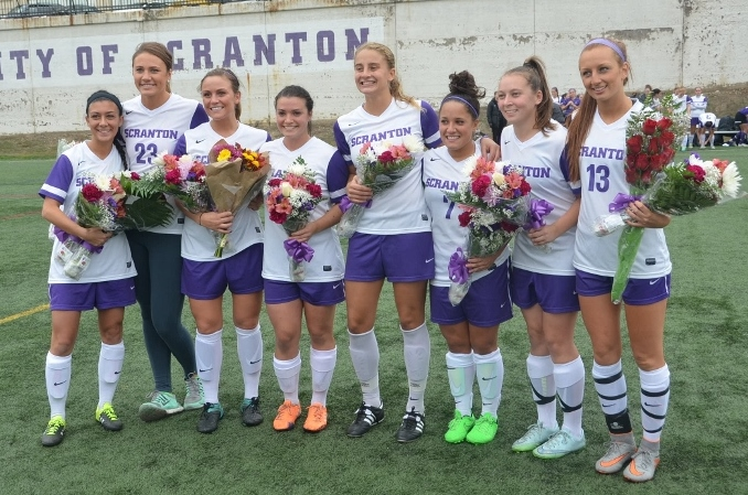 PHOTOS: Field hockey, men's soccer, women's soccer and women's volleyball Senior Day ceremonies