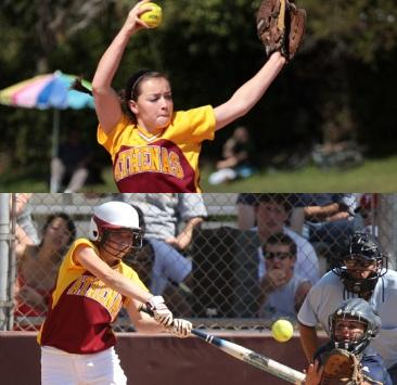 Athenas Open Conference Play with Double-Header Sweep of Occidental