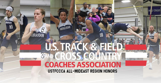 John Spirk, Carly Danoski, Melissa Cheong, Zion Howard, Casie Cronk and Scott Goodwin named to the USTFCCCA All-Mideast Region squad.