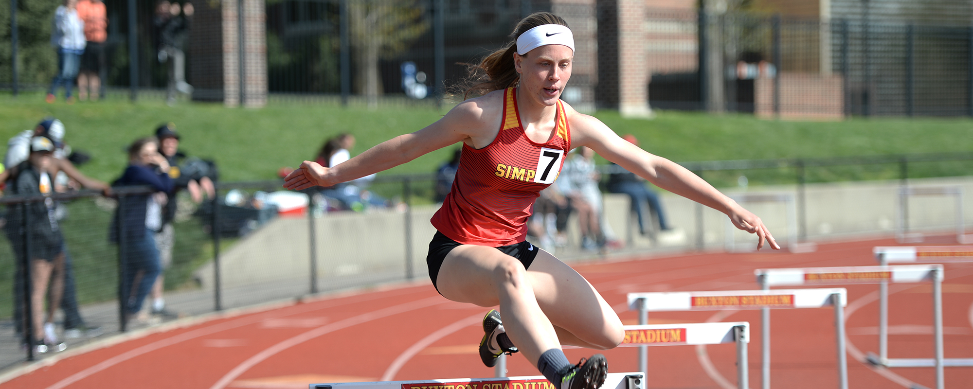 Katelyn Mangold raced to her second-consecutive all-conference selection in the 400-meter hurdles.