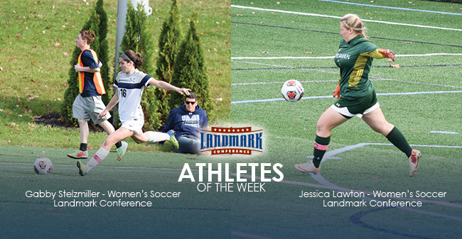 Stelzmiller & Lawton Honored as Landmark Conference Women's Soccer Athletes of the Week