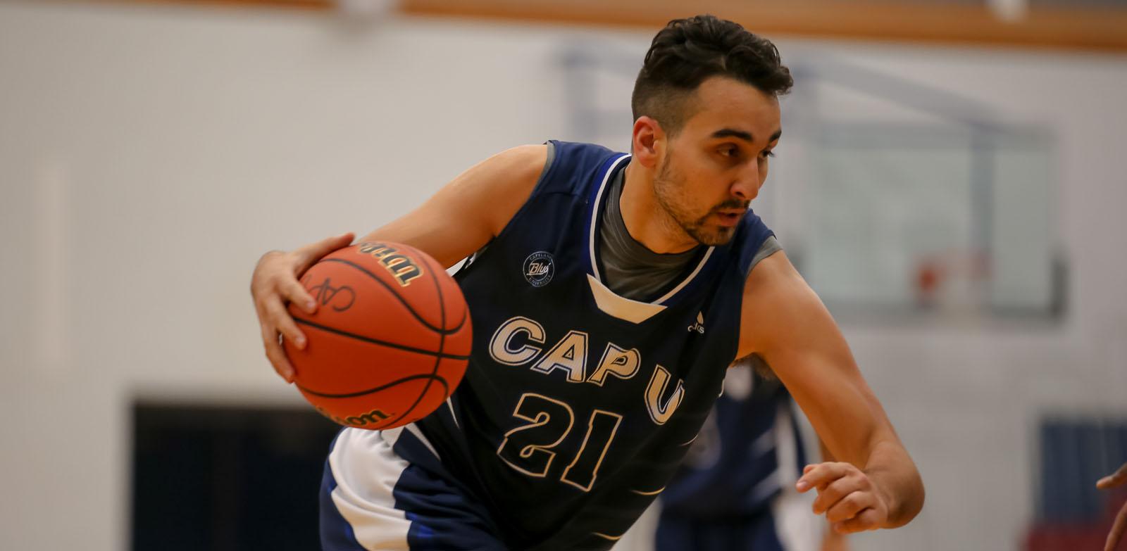 CapU fourth-year forward Niko Mottus. Photo Paul Yates / Vancouver Sports Pictures