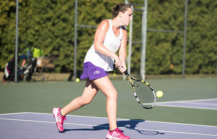 Women's tennis downed by Assumption during NE-10 play