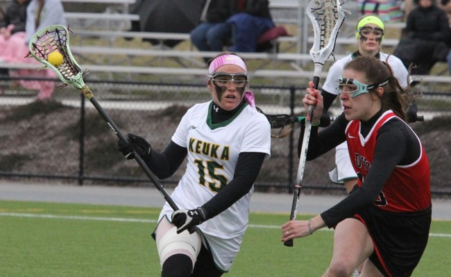 Morgan Bruno (15) scored 2 goals and added 3 assists in the win on Thursday -- Photo by Ed Webber