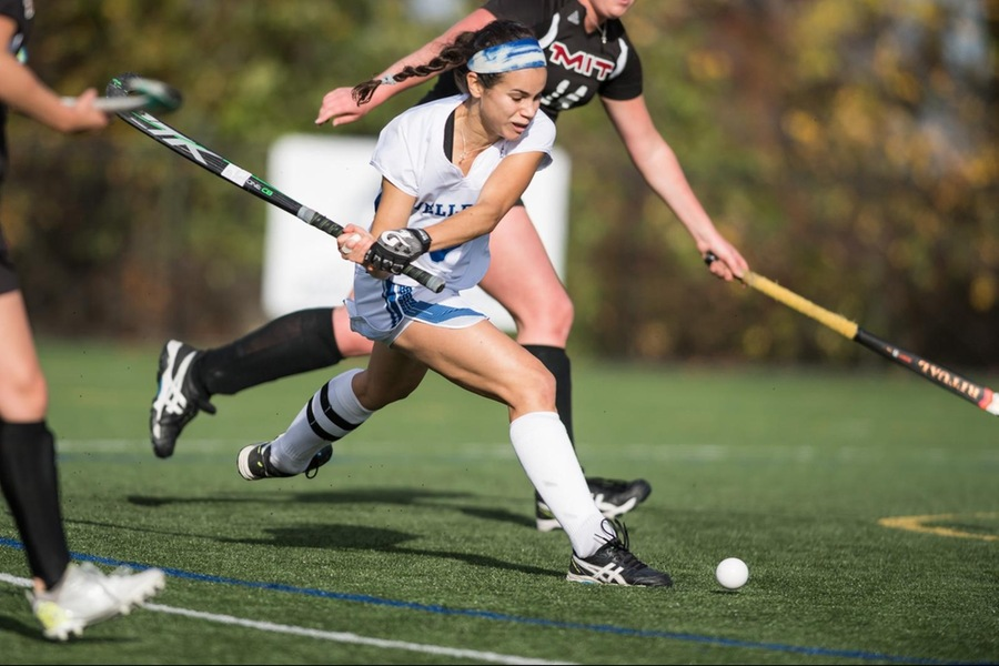 Senior Emmy Hamilton had an assist in her final collegiate game for the Blue (Adam Richins).