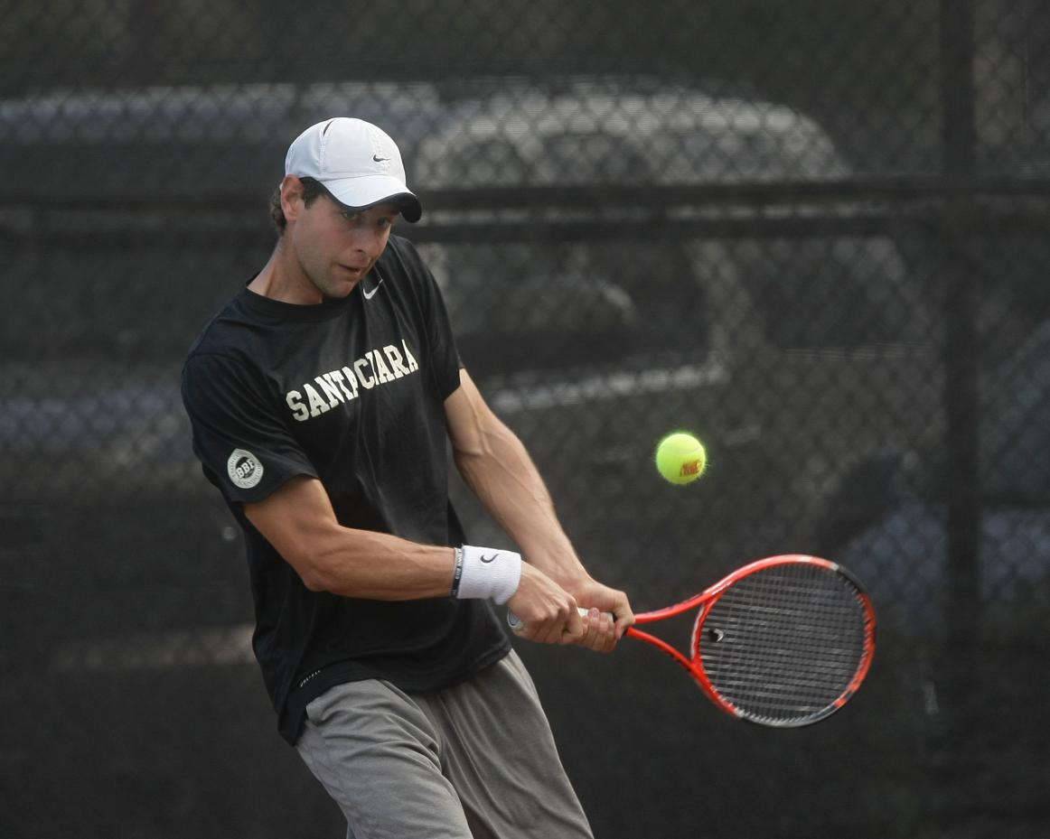 John Lamble of No. 64 Bronco Men's Tennis Named WCC Singles Player of the Month for March