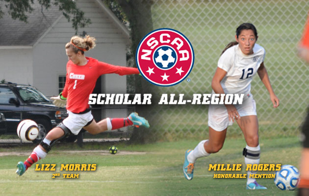 Morris and Rogers Earn NSCAA Scholar All-Region Honors