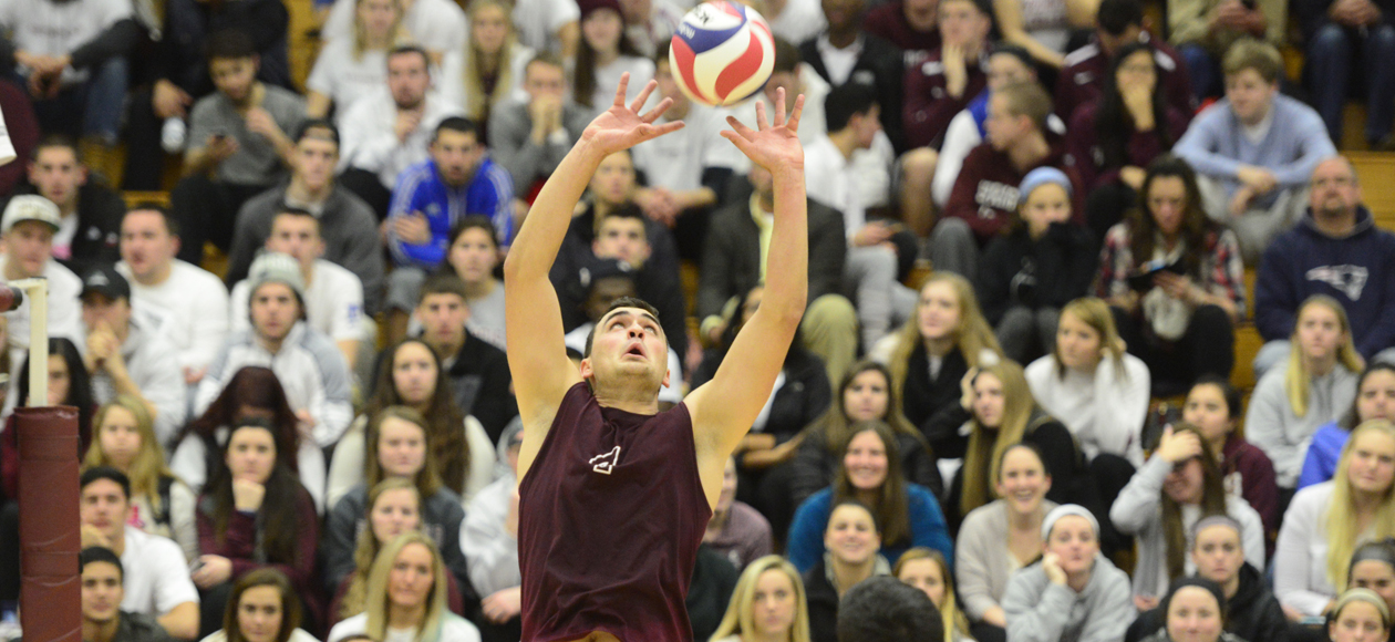 Men's Volleyball Hits .627 To Ease Past Emmanuel in Straight Sets