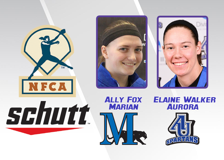 Aurora's Elaine Walker and Marian's Ally Fox have made the 25-player cut for the 2019 NFCA Pitcher and Player of the Year awards.
