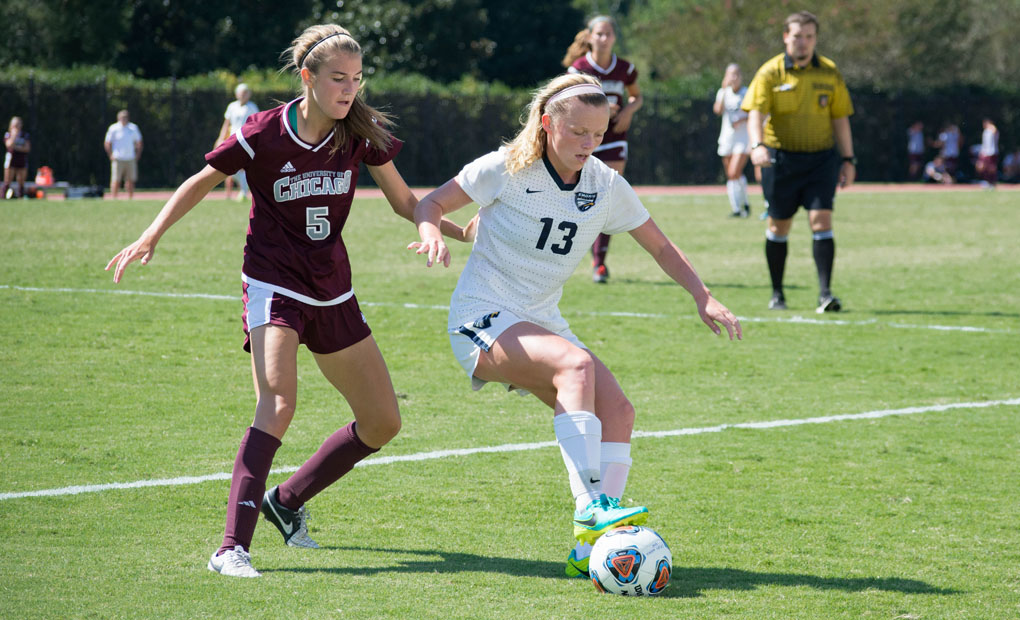 Emory Women's Soccer Posts 2-0 Victory over Pacific Lutheran