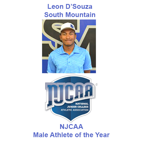South Mountain's D'Souza named NJCAA Male Athlete of the Year