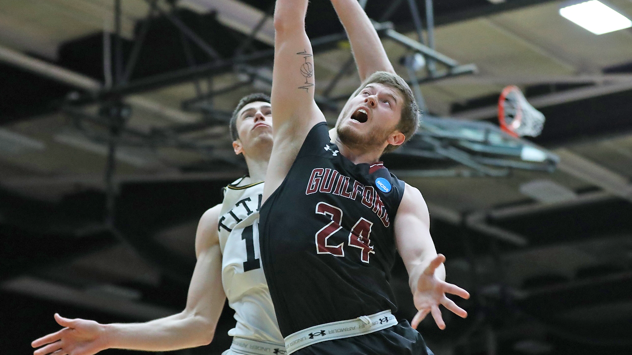 Kyler Gregory poured in a career-high 31 points in Guilford's NCAA quarterfinal loss to Wisconsin-Oshkosh, 82-79, on Saturday evening in Oshkosh, Wis.