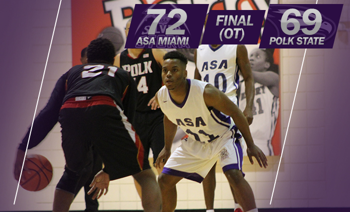 ASA Miami Hoops Comes Back To Beat Polk State In OT 72-69
