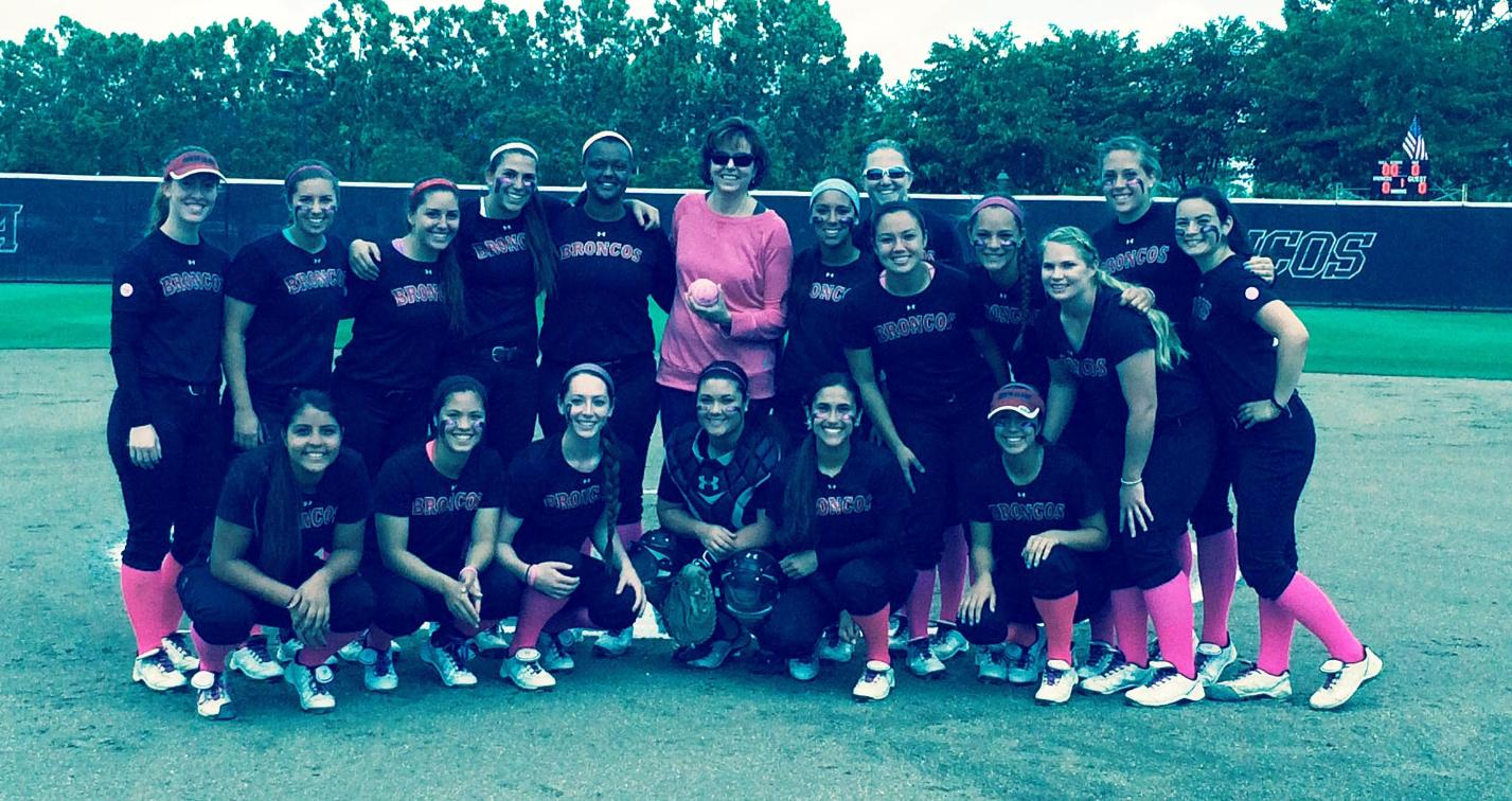 "Bronco Softball Falls to Saint Mary's in ""Pink"" Game"