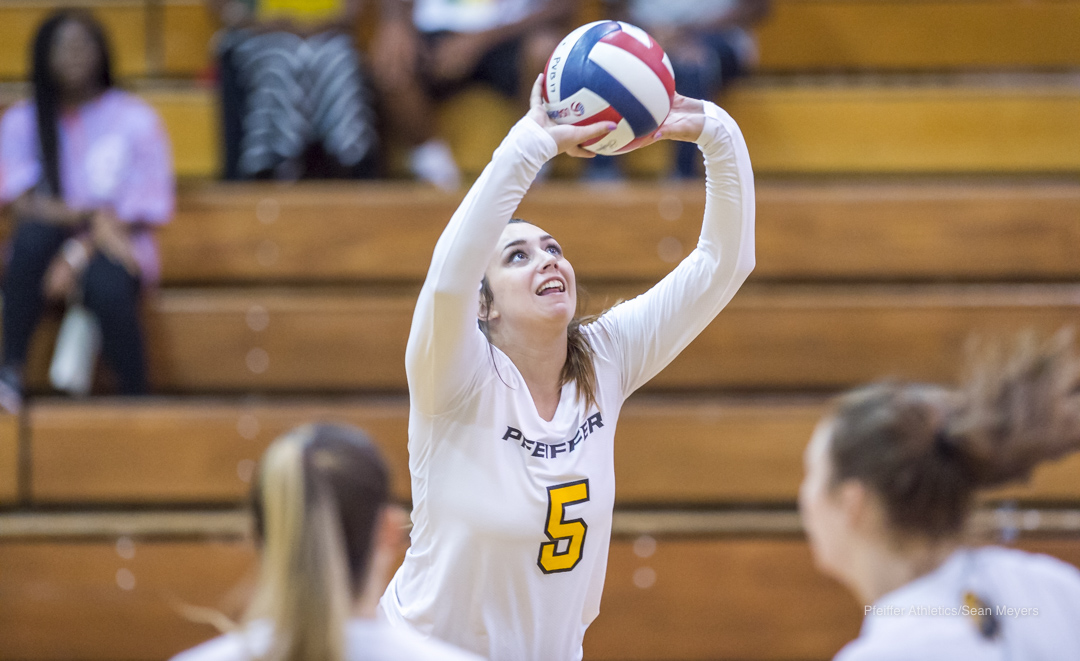 Volleyball Drops Two at Home Tri-Match