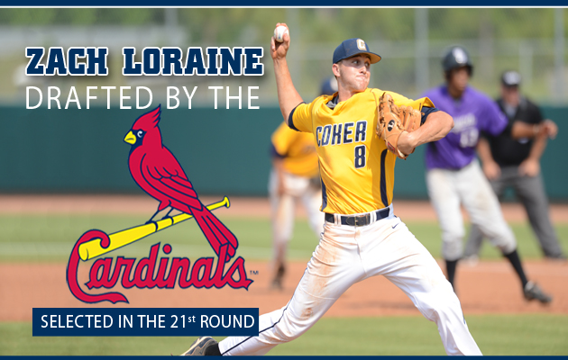 Coker's Zach Loraine Drafted by Hometown Cardinals